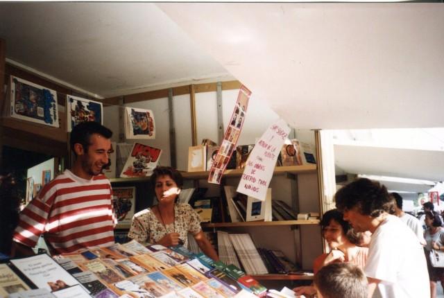 Feria del Libro de Madrid 1995. Antonio de la Fuente y Sury Sánchez.