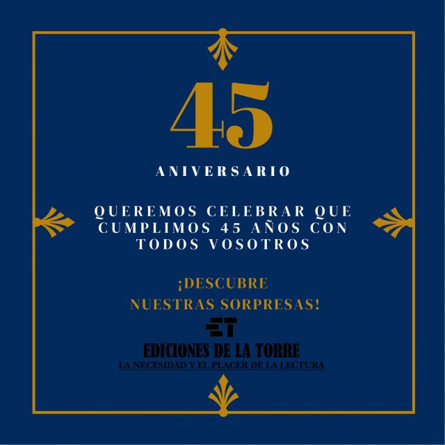 Azul y Dorado Vintage con Bordes Aniversario Invitación